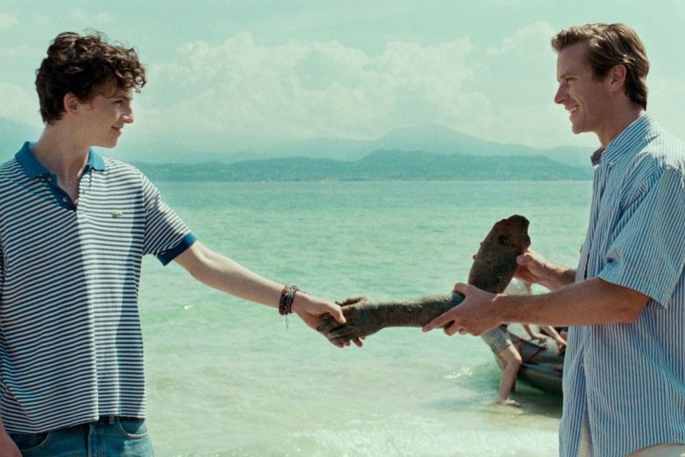 Timothée Chalamet y Armie Hammer son Elio y Oliver en Call me by your name (Luca Guadagnino, 2017, Italia, Francia, Brasil & EE.UU.)